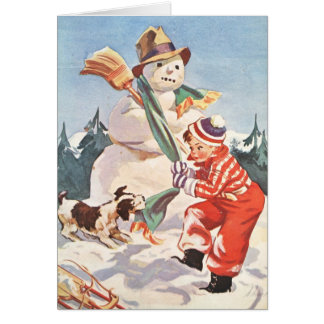 Playing in the Snow Card
