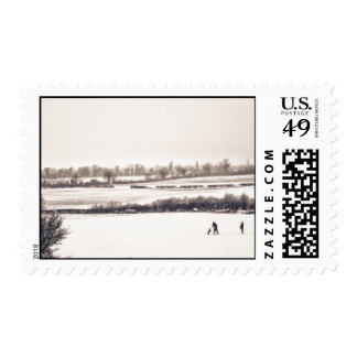 Playing in the Snow Postage