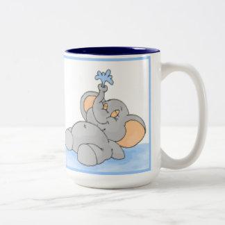 Playing in the Water Two-Tone Coffee Mug
