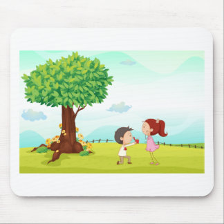 playing kids mouse pad
