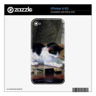 Playing Kitten by Henriëtte Ronner-Knip Skin For iPhone 4