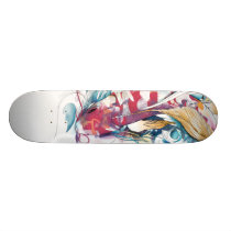 Playing Koi Skateboard Deck