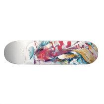 Playing Koi Skateboard Deck