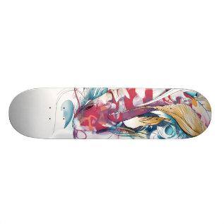 Playing Koi Skateboard Deck at Zazzle