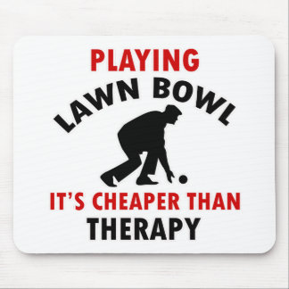 playing Lawn Bowl design Mouse Pad