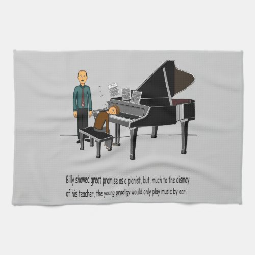 Playing Music By Ear Kitchen Towel