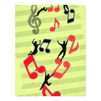 Playing music letterhead