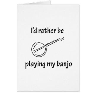 Playing My Banjo Greeting Cards