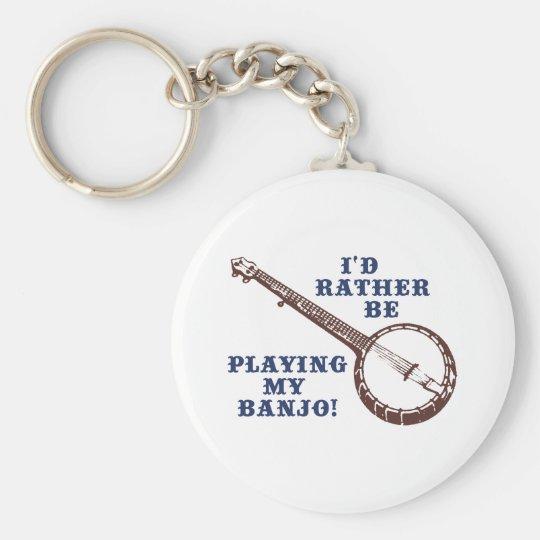 Playing My Banjo Keychain