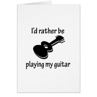 Playing My Guitar Greeting Card