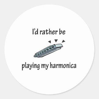Playing My Harmonica Stickers