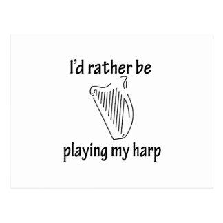 Playing My Harp Postcard