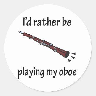 Playing My Oboe Sticker