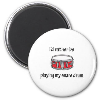 Playing My Snare Drum 2 Inch Round Magnet