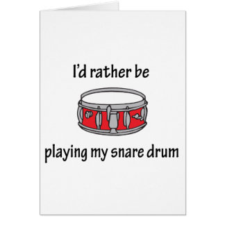 Playing My Snare Drum Greeting Card