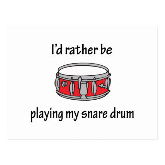 Playing My Snare Drum Postcard