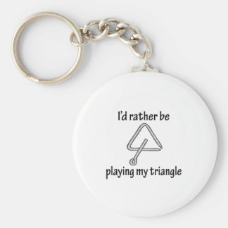 Playing My Triangle Basic Round Button Keychain