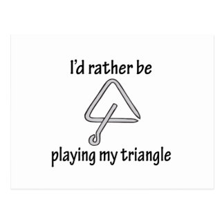 Playing My Triangle Postcards