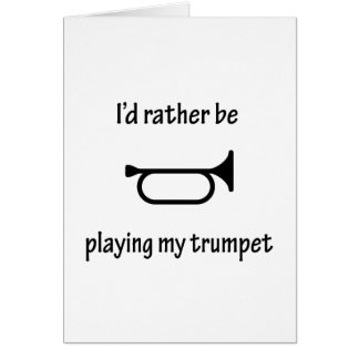 Playing My Trumpet Greeting Cards