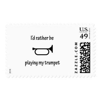 Playing My Trumpet Postage Stamp