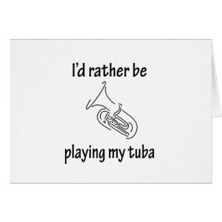 Playing My Tuba Greeting Card