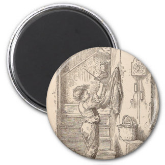 Playing on the Stairs 2 Inch Round Magnet