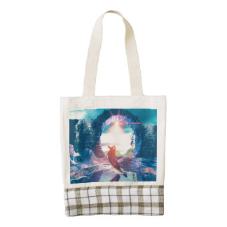 Playing orca zazzle HEART tote bag