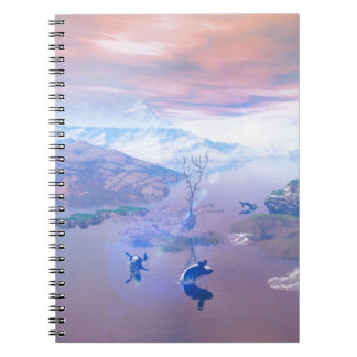 Playing orcas spiral note books