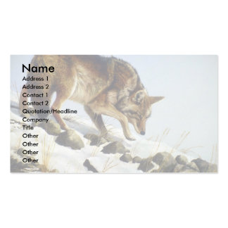 Playing possum, Coyote Business Card