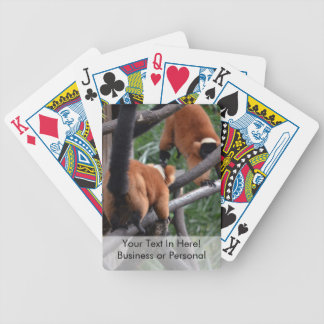 Playing Primates Red Bellied Lemurs Bicycle Playing Cards