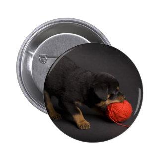 Playing Puppy 1 2 Inch Round Button