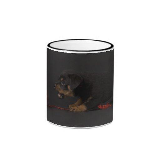 Playing Puppy 3 Ringer Coffee Mug