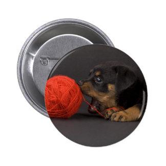Playing Puppy 4 2 Inch Round Button