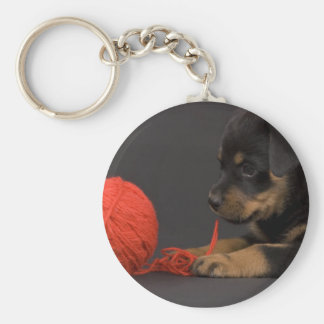 Playing Puppy 6 Key Chain