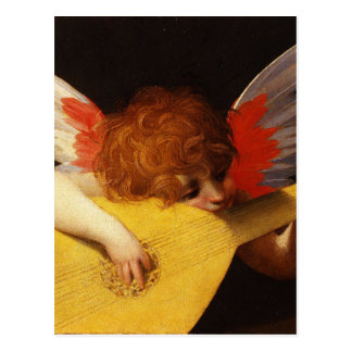 Playing putto (Musician Angel) by Rosso Fiorentino Postcard