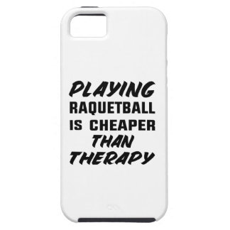 Playing Racquetball is cheaper than therapy iPhone SE/5/5s Case