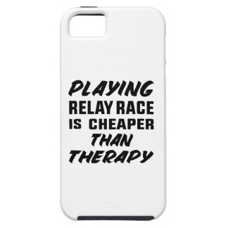 Playing Relay Race is cheaper than therapy iPhone SE/5/5s Case