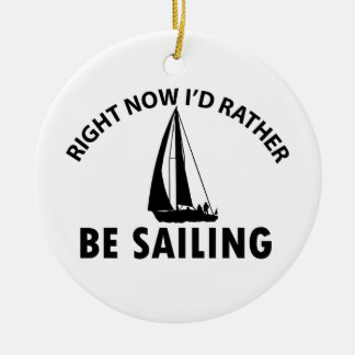 Playing  sailing ceramic ornament
