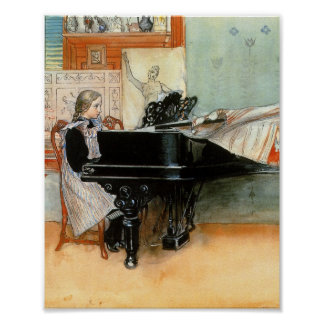 Playing Scales 1898 Poster