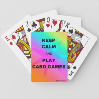 Playing short with colourful back card decks