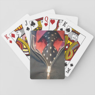 playing short with necktie poker deck