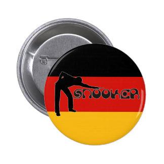 PLAYING SNOOKER modern font & german flag Pinback Button