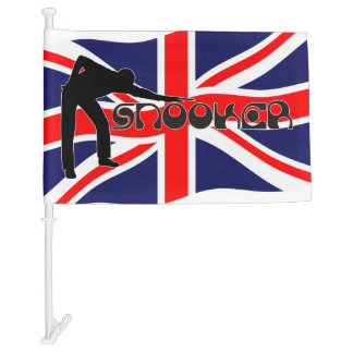 PLAYING SNOOKER modern font & union jack flag