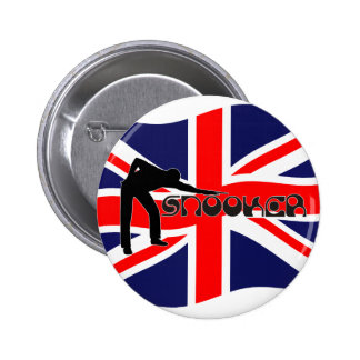 PLAYING SNOOKER modern font & union jack flag Button