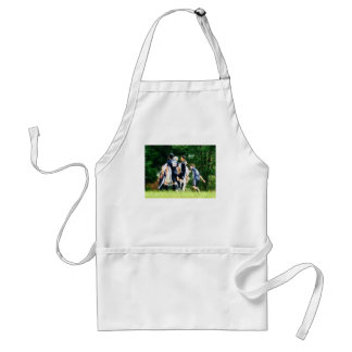 Playing Soccer Adult Apron