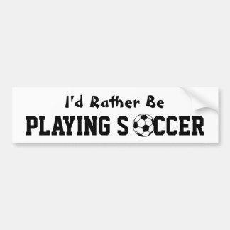 Playing Soccer Car Bumper Sticker