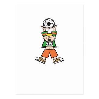 Playing Soccer Postcard