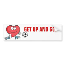 Playing Sports is Good for Your Heart Bumper Sticker