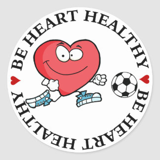 Playing Sports is Good for Your Heart Classic Round Sticker