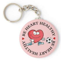 Playing Sports is Good for Your Heart Keychain